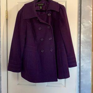 Ladies purple pea coat